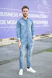 denim jumpsuit mens they are wearing barcelona