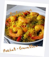 riz espagnol poulet crevettes recette poisson fruits de mer