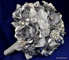 Rose Bouquet Fuchsia 9in Silver U0026 Gray Wedding Bouquets Grey Weddings Bouquets And