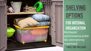 Keter Plastic Shelving Szafa Balkonowa Keter Store It Out Midi Ogrodosfea Pl Youtube