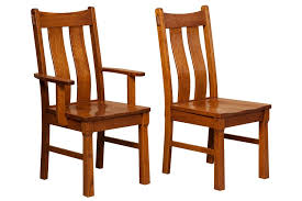 beaumont mission style dining room chairs solid quartersawn