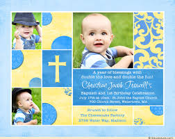 chic baptism or christening invitation baby u0027s photos cross