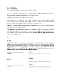 codicil form fill online printable fillable blank pdffiller