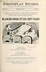 filmic light snow white archive 1939 blanche neige photoplay
