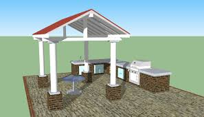 Outdoor Kitchen Design Plans Free Outdoor Kitchen Designs Howtospecialist How To Build Step