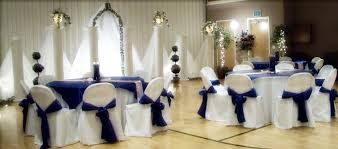 Royal Blue Chair Sashes Linen Rentals