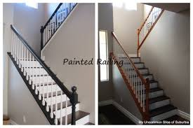 What Is Banister Painted Stair Rails Paint Stairs Stair Railing And Creamy Mushrooms