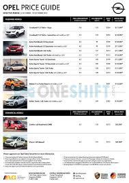 opel singapore opel singapore printed car price list oneshift com