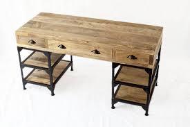 bureau industriel bois et metal bureau industriel métal et bois de manguier