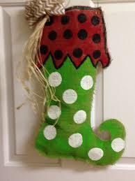 burlap christmas stocking feelin crafty pinterest christmas