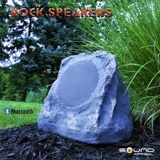 amazon com bluetooth outdoor rock speaker grey slate stereo