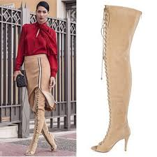 womens brown knee high boots size 11 boots lycra picture more detailed picture about autumn 2015 plus