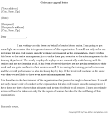 grievance outcome letter template 28 images grievance letter