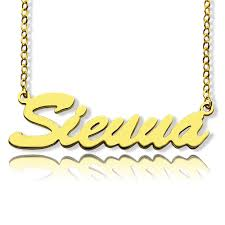 personalized gold name necklaces personalized gold name necklace