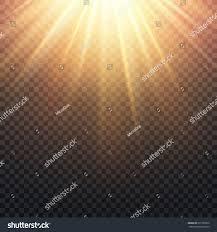 Warm Realistic Transparent Yellow Sun Rays Warm Stock Illustration