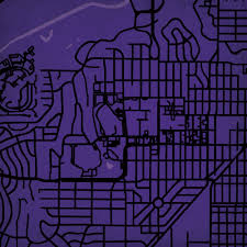 Tcu Map Texas Christian University Campus Map Art City Prints