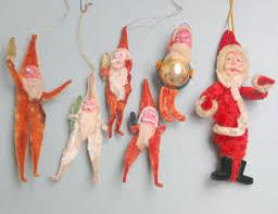 antique ornaments antique papier maché santas