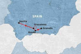Andalucia Spain Map by Trails Of Andalucia Spain Tours Peregrine Adventures Au