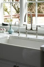 farm sink bridge faucet