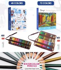 48 72 colors water soluble pencils gift package children colored