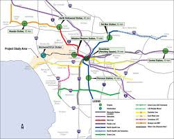la metro rail map purple line extension