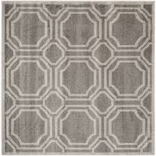 Outdoor Rug Square shop safavieh amherst mosaic gray light gray square indoor outdoor