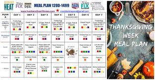 portion fix thanksgiving week meal plan hustle fitness