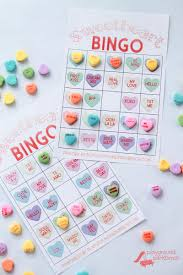 valentines bingo conversation heart bingo cards