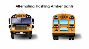 use of amber lights on vehicles bus stopping procedures from another vehicle s perspective
