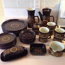 Denby Vase Pottery Vintage Mid Century Modern Denby Pottery