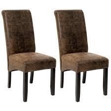 chaises de salle à manger design 2 chaises de salle à manger design 105 cm marron aspect vieilli