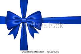 tie ribbon gift bow ribbon silk blue bow stock vector 732059995