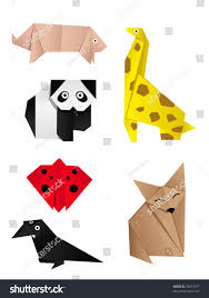 hidetail vector another origami animals see stock vector 78827077