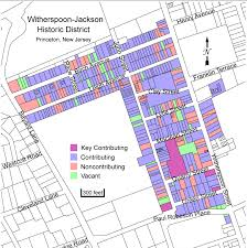 Princeton Map Details Of Proposed Witherspoon Jackson Historic District