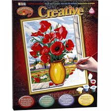 creative creations extra paint by number poppies craft u0026 hobbies