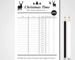 christmas to do list etsy