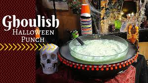 how to make a ghoulish halloween punch for kids youtube