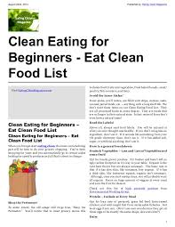 clean eating for beginners eat clean food list eating clean magaz u2026