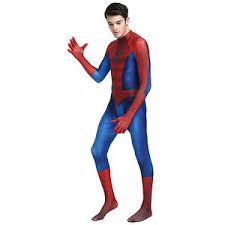amazing spiderman cosplay costume with mask men halloween party