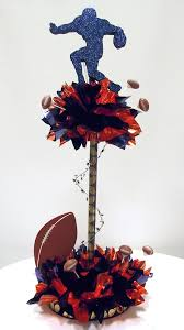 Football Centerpieces How To Make Tall Sports Centerpieces For Bar Mitzvah Awesome