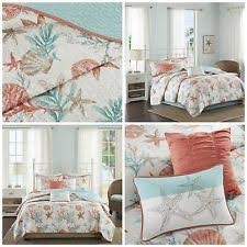 Coral Colored Comforters Starfish Bedding Ebay