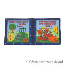 cloth book toddler boy bob builder kids soft baby