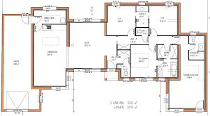 plan plain pied 5 chambres plan maison 5 chambres plain pied