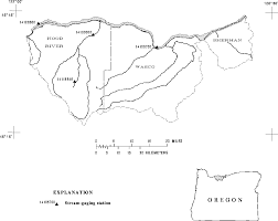 Hood River Oregon Map by Downstream Order Schematics Page