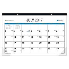 desk pad calendar 2017 sale 2017 blue sky 2017 2018 academic year monthly desk pad