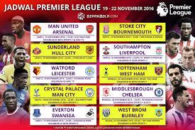 Jadwal Liga Inggris Jadwal Liga Inggris Pekan Ke 12 Dan Siaran Langsung Televisi