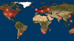World Map Image by Where Tornadoes Strike Around The World The Weather Channel