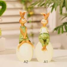 Garden Rabbits Decor Tandem Bicycle Bunnies Garden Statue 33862 Bicycle Decor And