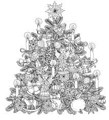 coloring pages for adults tree christmas tree with ornaments by mashabr christmas coloring