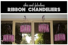 How To Make A Diy Chandelier Ribbon Chandelier Tutorial